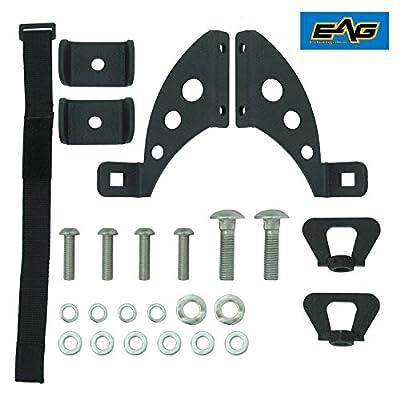 EAG Hi Lift Jack Hood / Rear Door Hinge Mount Bracket Kit for 07-17 Jeep Wrangler JK