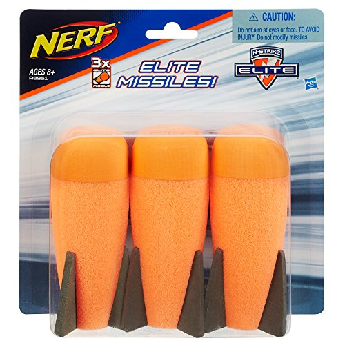 Big Bullet - Nerf Official N-Strike Elite Series Mega Missile Refill 3-Pack