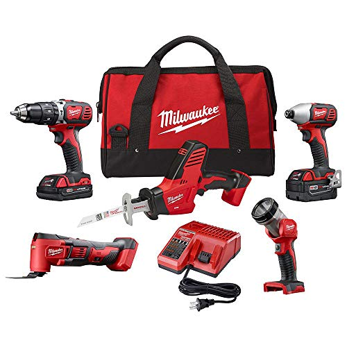 Milwaukee Cordless Combo  5-Tool Battery Charger Tool Bag 18