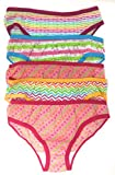 Little Girls Assorted Bikini Style Cotton Panty (Pack Of 5) (4T, Pink/White)