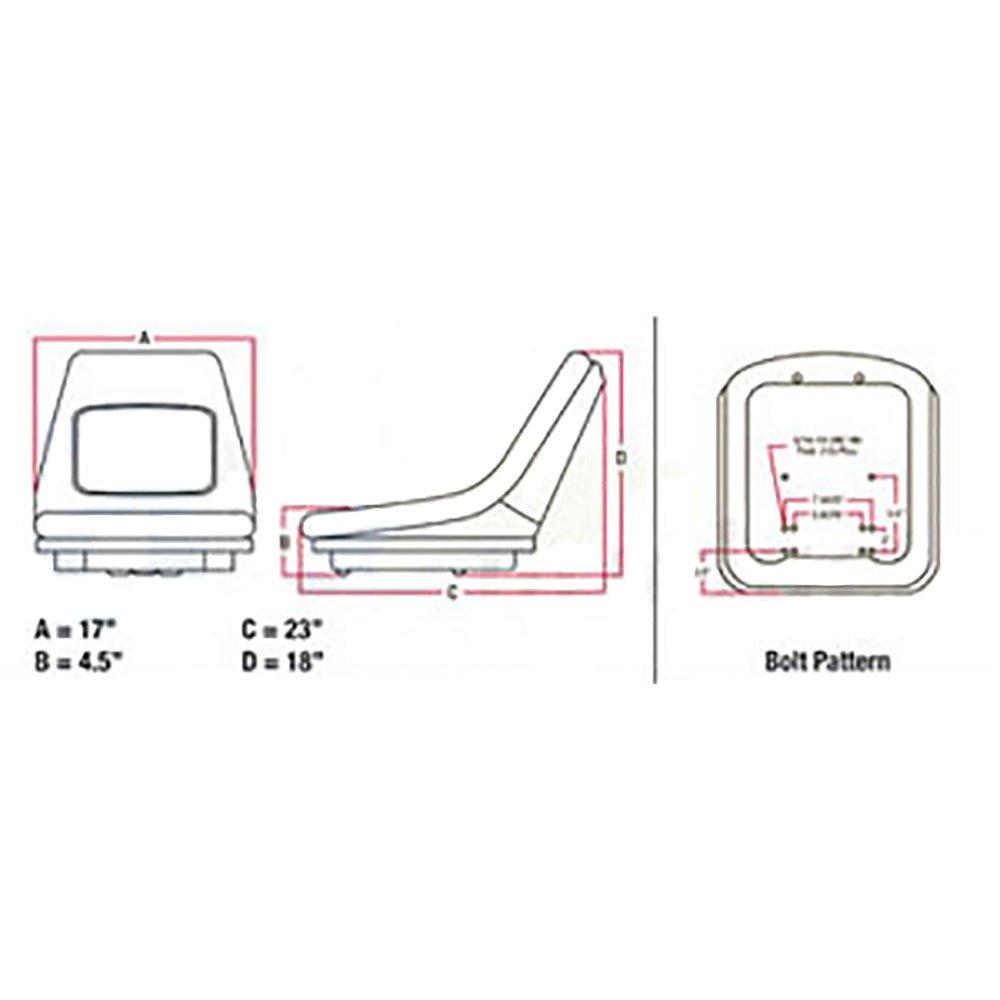 Amazon.com: 35080-18400 Seat Made for Kubota L2500 L2550 L2650 L2850 L2900  L2950 L3250 BX Series: Industrial & Scientific