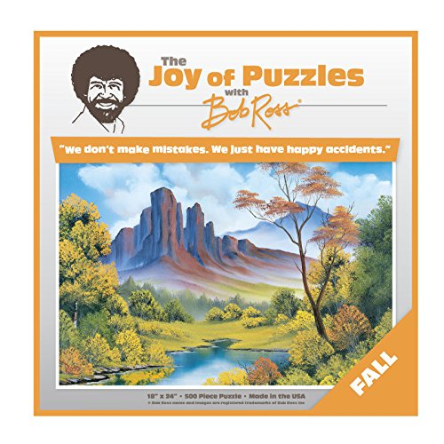 Wellspring Bob Ross The Joy Of Puzzles, Fall 500 Piece Jigsaw Puzzle 6817