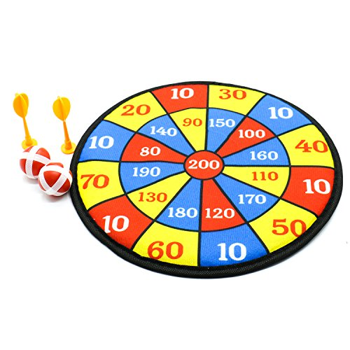 (Fabric Dart Board Set Kid Ball Target Game by IDS)