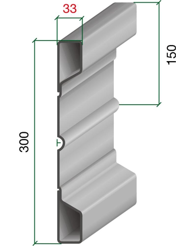 03110-1, 8 - Grundbordwand NS 300/33/33 (1800 mm) Archus Neumeier GmbH & Co. KG
