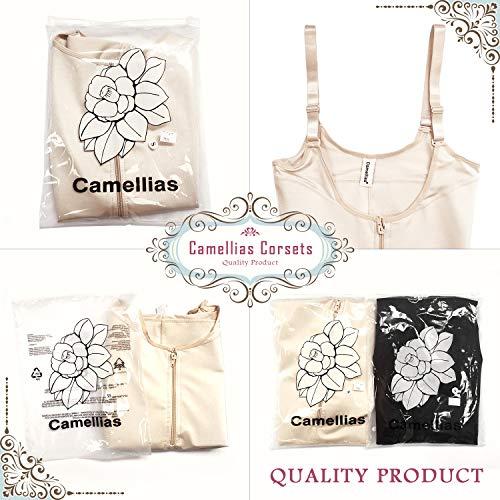 f28f8c5adf Camellias Womens Faja Seamless Firm Control Shapewear Zipper Closure Open  Bust Bodysuit Body Shaper Slimmer Shaperwear