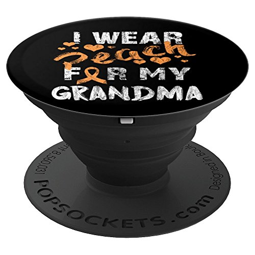 I Wear Peach For My Grandma - PopSockets Grip and Stand for Phones and Tablets