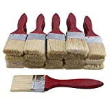 20pcs Low Cost Paint Brushes or Chip Brush with Red Wooden Handle,2' Width for Paint,Stain,Varnish, Gesso, Primer, Glue