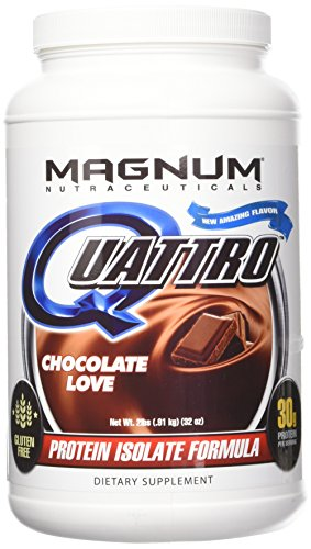 Quattro Chocolate Love Lactose-Free Protein Powder for Men & Women (2 lbs.) (Best Protein Supplement For Lactose Intolerant)