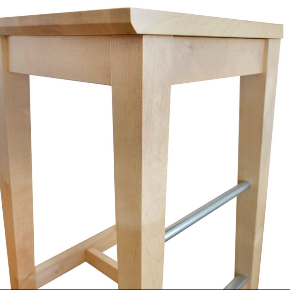 AO-stools Nordic Simple Birch bar Stool high Stool bar Chair 74x37x38cm by AO (Image #3)