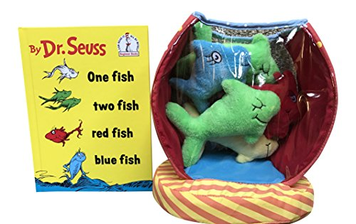 One Fish Two Fish Red Fish Blue Fish Book and Dr. Seuss One Fish Bowl Baby Activity Toy Bundle