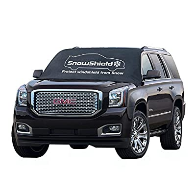 SnowShield Magnetic Windshield Cover for Ice, Snow, Frost | All car Types with Magnets | XL Extra Large | Universal fit SUV, Truck, Sedan, Van