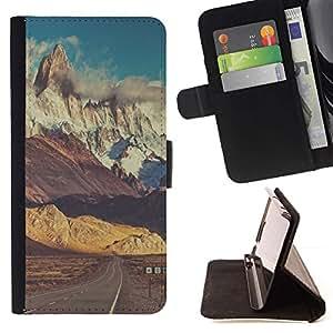 Momo Phone Case / Flip Funda de Cuero Case Cover - Camino de la nieve Empty Sky - LG G4c Curve H522Y (G4 MINI), NOT FOR LG G4