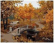 Gosear Pintar por Numeros,Pintura al óleo del Paisaje de DIY de Digitaces Que colorea por números en la decora