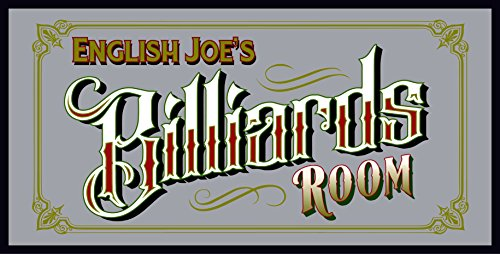 Etched Bar Mirrors - THOUSAND OAKS BARREL Personalized 'Billiards Room' Bar Mirror