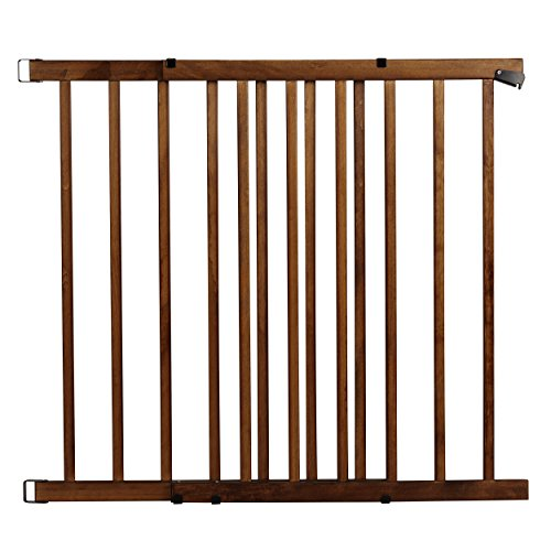Evenflo Top of The Stair Extra Tall Hardware Mount Gate, Dark Wood - Grand Collection Floor