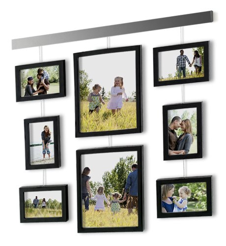 amazoncom beyond words hanging gallery 9 piece box frame set black picture frame sets