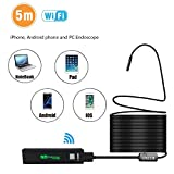 HD Wireless Endoscope - OKEER 1200P WiFi Borescope Inspection Snake Camera for Android and iOS Smartphone iPhone Tablet