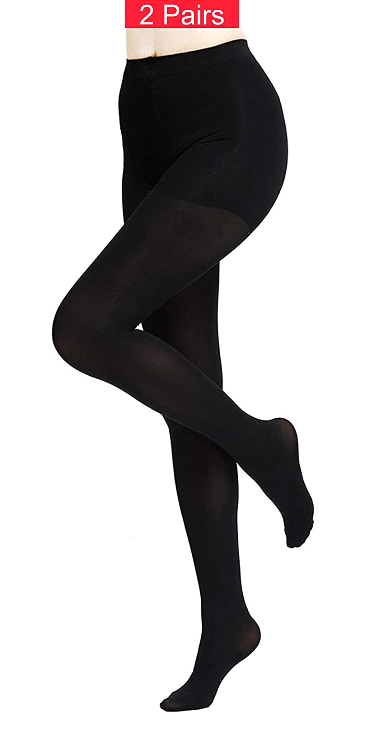 a4f1fb3b892 Moonsocks Women s Soft Opaque Control-Top Tights Stretch 80Den Pantyhose at  Amazon Women s Clothing store