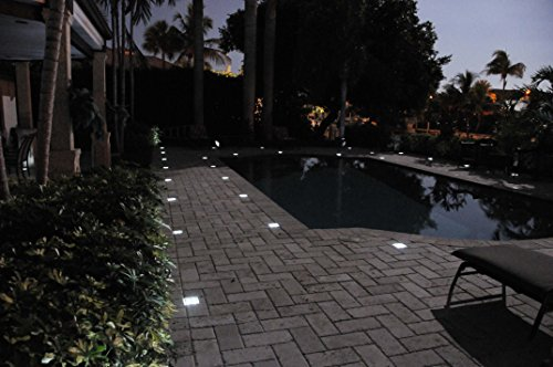 Paver light depot 4x8 solar led paver lights solar for Solar powered glow stepping stones