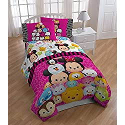 Disney Tsum Tsum Comforter and Sheets 5pc Bedding Set (Full Size)