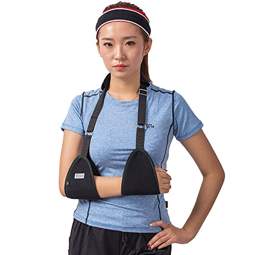 (Triangle Dislocated Arm Sling Medical Shoulder Immobilizer Rotator Cuff Wrist Elbow Forearm Support Brace Strap with Soft Comfortable Padded Lightweight Simple for Broken & Fractured Arm)