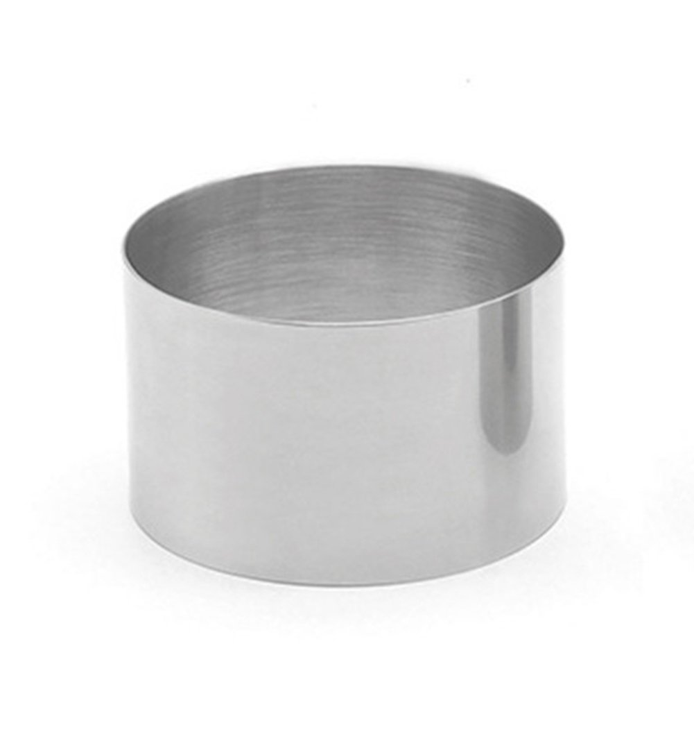 Bestwoohome Stainless Steel Cake Pastry Ring Round Mousse Molds (3.5 Inch)