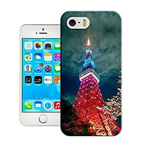 LarryToliver Customizable Eiffel Tower iphone 5/5s Perfect Color Match Cover Case for