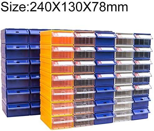 HZG 肥厚複合プラスチック部品キャビネット引き出しタイプコンポーネントボックスビルディングブロックの材質ボックスハードウェアボックス、ランダムな色配達、サイズ:24センチメートルX 13センチメートルX 7.8センチメートル 職人スペシャルパッケージ