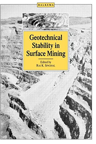 Geotechnical Stability in Surface Mining Singhal