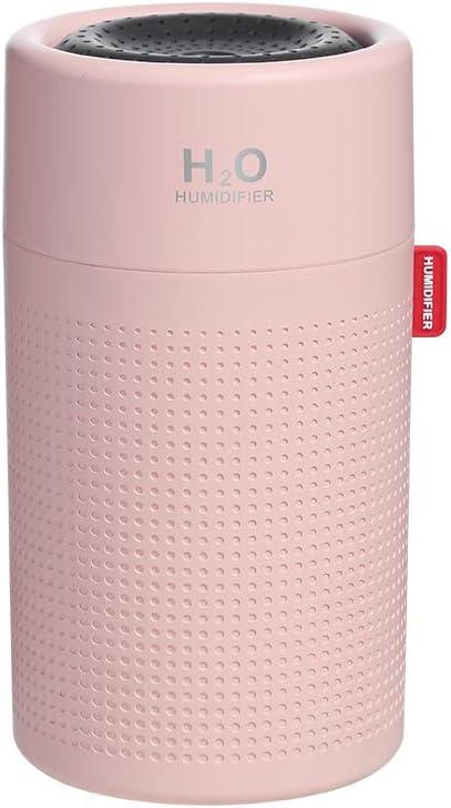 Richgv/® Humidificateur dair portatif 750 ml grande capacit/é de bureau rechargeable par ultrasons diffuseur de brouillard deau diffuseur pulv/érisateur deau Blanc