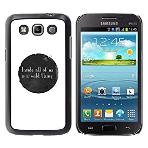 Qstar Arte & diseño plástico duro Fundas Cover Cubre Hard Case Cover para Samsung Galaxy Win / I8550 / I8552 / Grand Quattro ( Ink Stain Spot Bubble Black White Message)