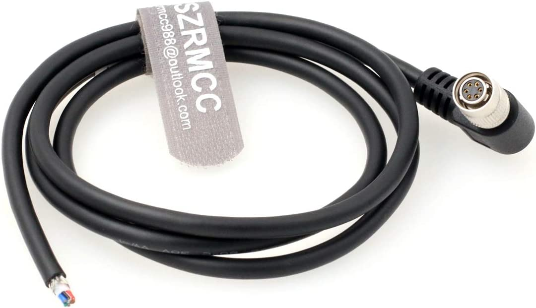 Straight, 10m SZRMCC HR10A-7P-6S Hirose 6 pin Female to Open end Shield I//O and Power Cable for Basler Sony AVT GIGE CCD Cameras