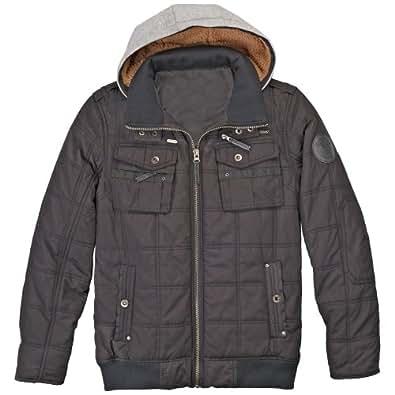 Rocawear Taupe Bomber Jacket Detachable Hood Men's Medium