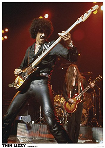 Rare Thin Lizzy [EU] London 1977 Live Concert Poster 24 in x 33 in Philip -