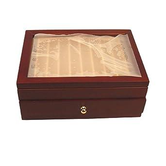 RanDal 20 Piezas Plumas De La Fuente Titular Pluma De Madera Caja De Exhibición Con Antiguo Viento Rojo Color Contenedor - Vino Tinto: Amazon.es: Industria, empresas y ciencia