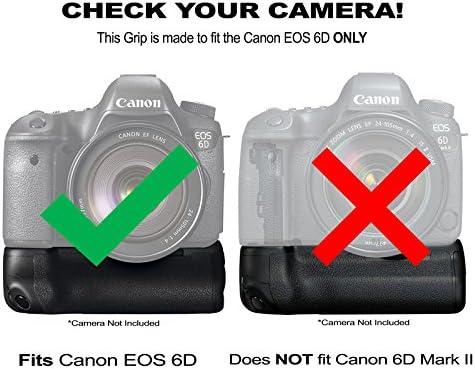 Empuñadura de batería Pack f/Canon EOS 6d: Incluye BG-E13 Grip de ...