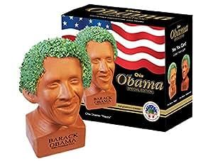 Chia Obama Handmade Decorative Planter, Happy Pose