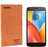 Moto E4 Plus Screen Protector, NOKEA Tempered Glass with [9H Hardness] [Crystal Clear] [Easy Bubble-Free Installation] [Scratch Resist] for Motorola Moto E4 Plus 2017 Released (1 Pack)