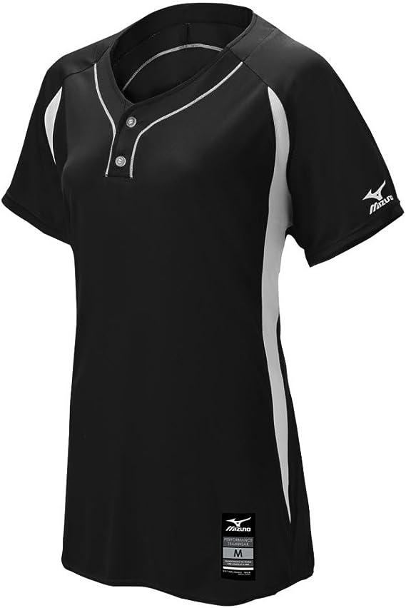 Mizuno Womens Adult Fastpitch Softball Elite 2-Button Game Jersey 3X-Large Purple-White