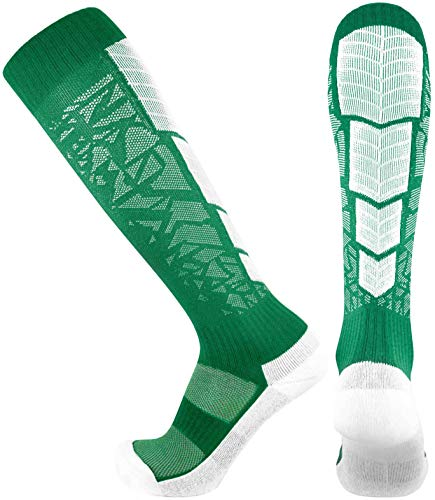 Elite Performance Athletic Socks - Over The Calf (Small, Green)