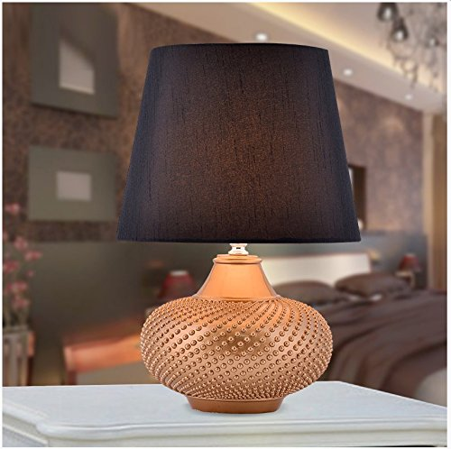 CLG-FLY Wedding gifts wedding room lamp creative fashion European bedroom bedside lamp lamp,27.7×40.5cm button switch