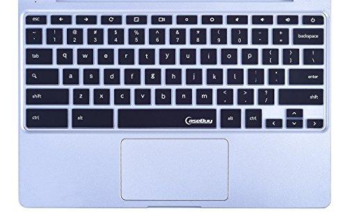 CaseBuy-Keyboard-Cover-Protector-Skin-for-Samsung-ARM-116-Chromebook-2-XE500C12-Chromebook-3-XE500C13-116-inch-Chromebook-Black