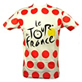 Le Tour de France - Official Tour de France 'Polka Dot Jersey' T-Shirt - Size : XL - Color : Red dots
