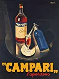 """CAMPARI L'APERITIVO ALCOHOLIC LIQUEUR BITTER RED TRAY SPARKLING WATER ITALIAN DRINK 12"""" X 16"""" VINTAGE POSTER REPRO"""