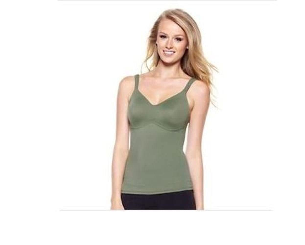 9826e177978 Rhonda Shear Everyday Molded Cup Camisole Olive Large at Amazon ...