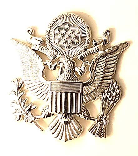Air Cap Force Insignia (DEURA US Air Force Male Officer Cap Eagle Badge Insignia Silver 2-1/2