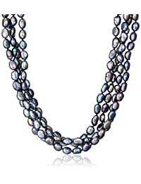 6-7mm Baroque Freshwater Cultured Pearl Endless Necklace, 100""