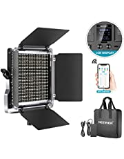 Neewer 660 LED Video Light, Dimmable Bi-Color Photography Lighting Kit with APP Intelligent Control System, Professional for YouTube Studio Outdoor Video Lighting with LCD Screen, 3200K-5600K Metal
