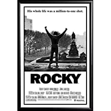 Framed Classic Movie - Rocky Balboa 24x36 Dry Mounted Poster in Basic Detail Wood Frame