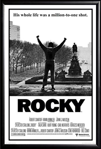 Framed Classic Movie - Rocky Balboa 24x36 Poster in Basic Bl
